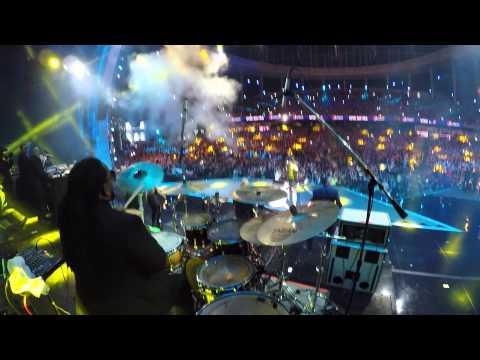 Yandel | Viña Del Mar 2015 (drummers view) | Marcus Thomas HD
