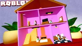 Roblox Adventures - TRAPPED AS DOLLS IN A DOLLHOUSE IN ROBLOX! (Dollhouse Roleplay)