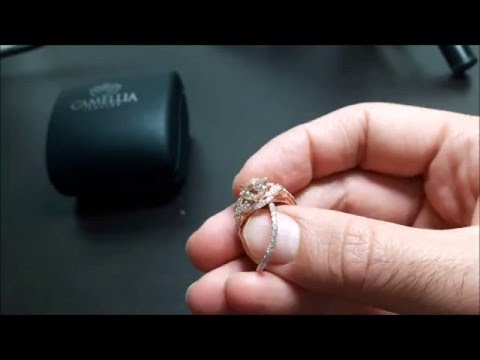 14K Rose Gold Morganite Engagement Ring Set Unique Vintage Engagement Rings
