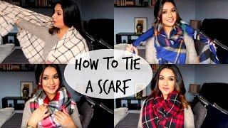 5 Ways to Tie a Scarf - Blanket Scarf !