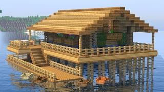 майнкрафт как сделать дом на воде
