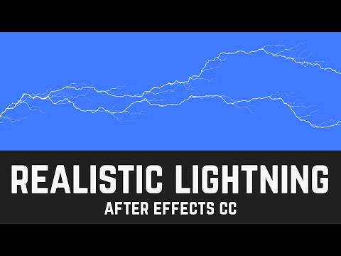 T014 Easy Realistic Lightning Effect in After Effects CC