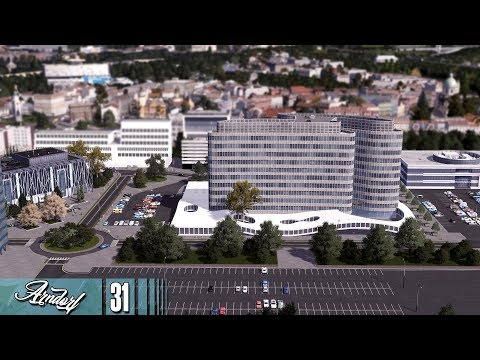 Cities Skylines: ARNDORF - The Business Center and Radio Station #31