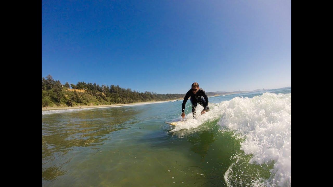 Otter Rock Oregon - Surfing - YouTube