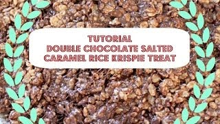 Chocolate Salted Caramel Rice Krispie Treats With So