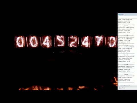 EEVblog Live Channel Views Nixie Tube Counter