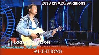 "Logan Johnson sings ""Sober"" Great Voice of Boise Idaho | American Idol 2019 Auditions"