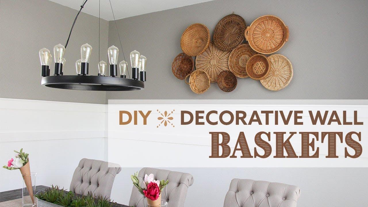 DIY Decorative Wall Baskets  Wall Basket