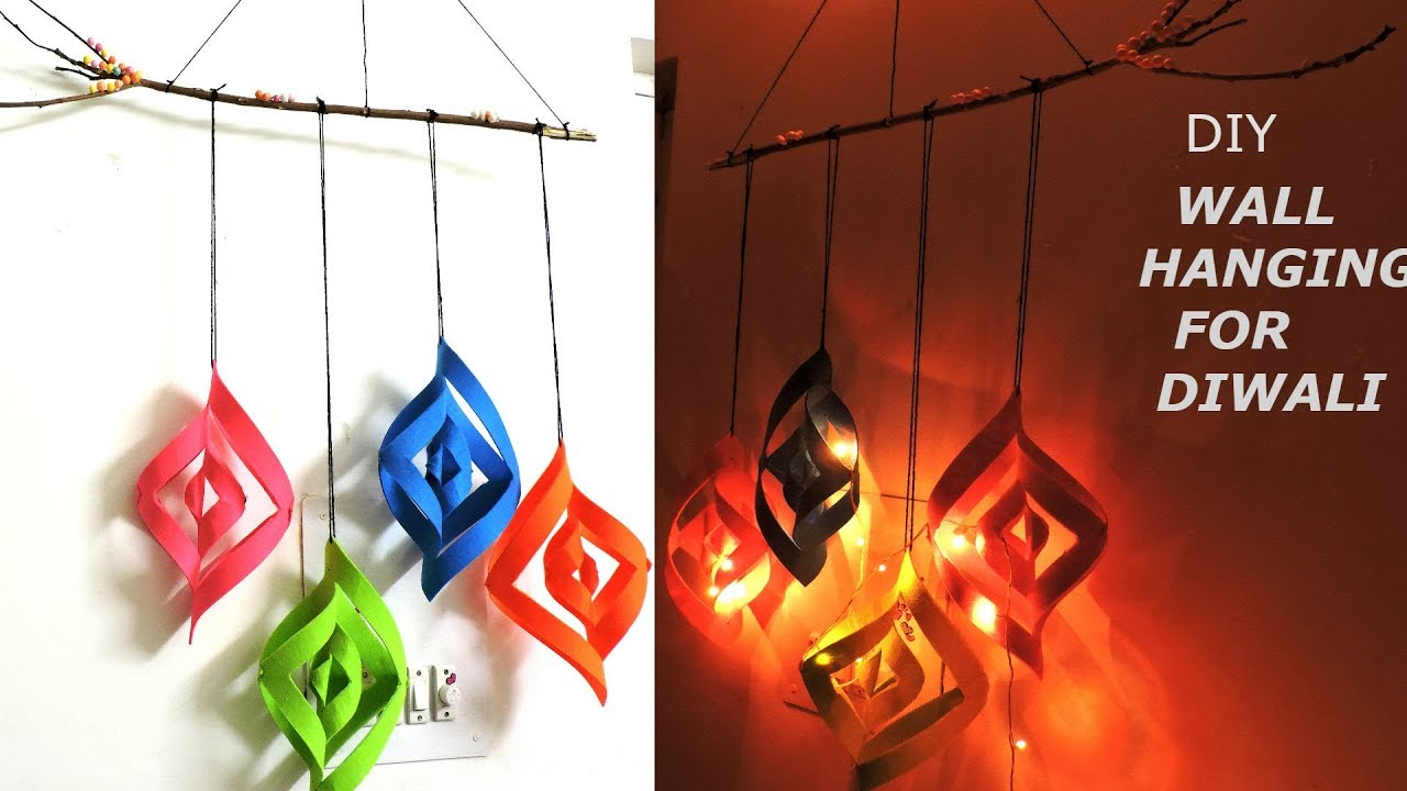 diy home decor for diwali diy room decor ideas for diwali wall hanging craft ideas 12087
