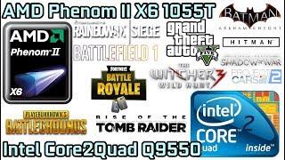 El mejor procesador por menos de 40€!! Phenom II X6 1055T vs Core2Quad Q9550 - GTX 1080Ti - 1080p