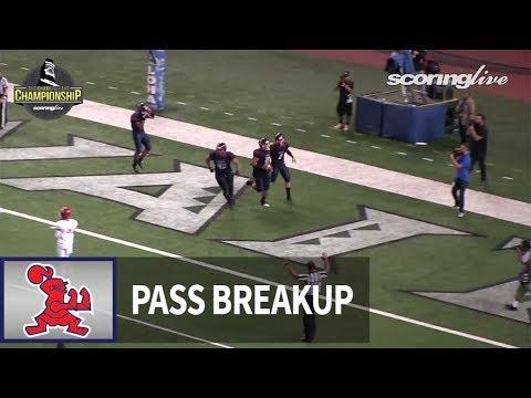 Kahuku vs. Saint Louis: Noa Purcell, pass breakup - HHSAA D1-Open Championship (2017)