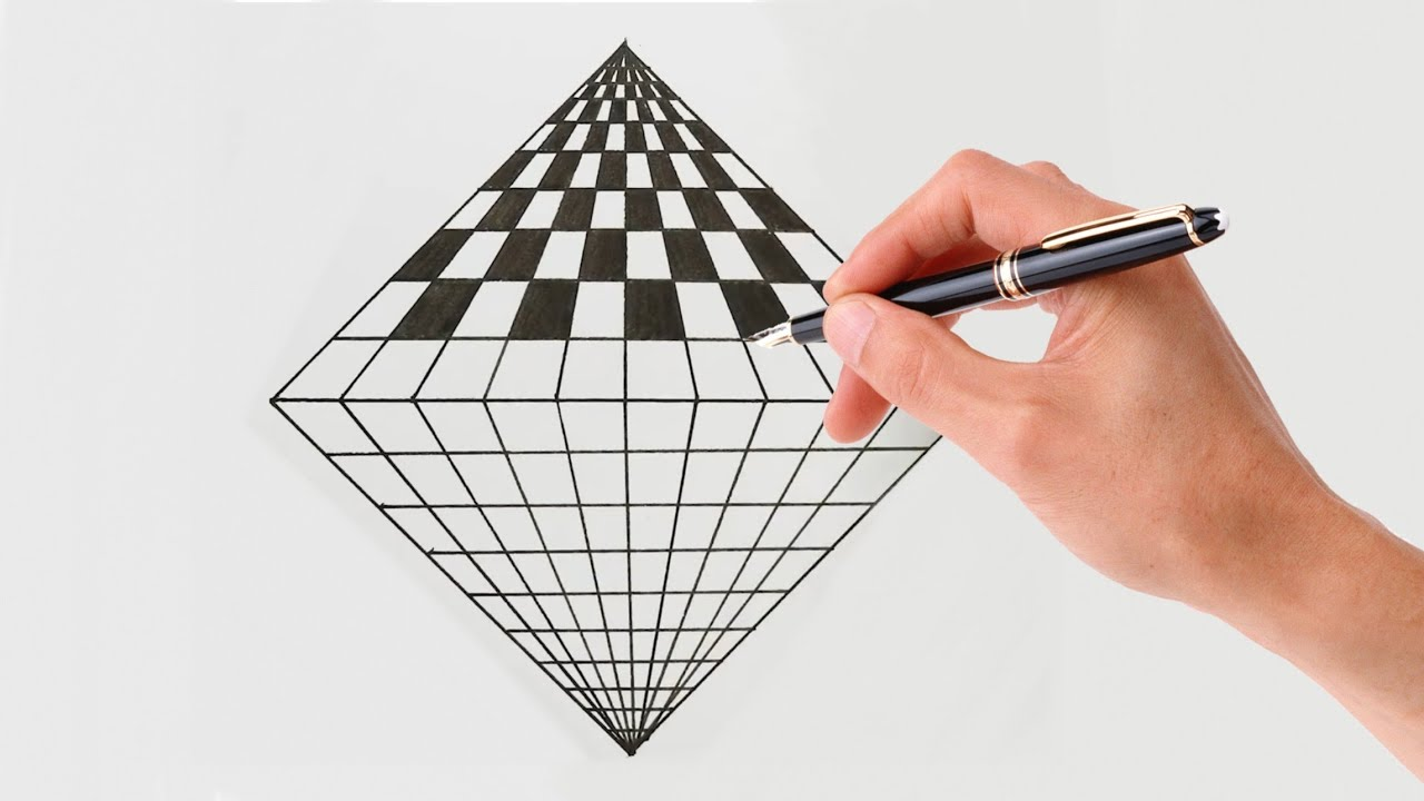 step geometric illusion easy illusions draw drawings optical square drawing 3d very steps bodypaintart paintings mind nicolejungg