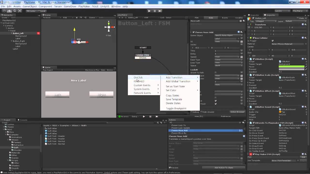 unity NGUI PlayMaker Button #01