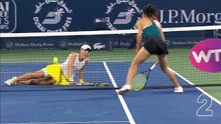 WTA TOP 5: Krásné přestřelky a obětavý skluz na síti