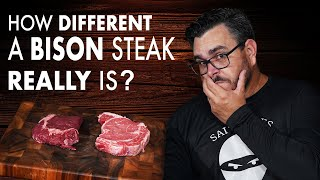 How DIFFERENT is a BISON RIBEYE from a BEEF STEAK | Salty Tales