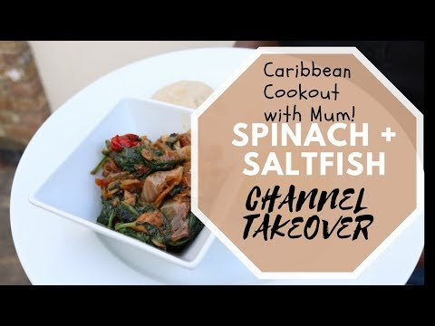 How To Make Spinach And Saltfish | Caribbean Recipe