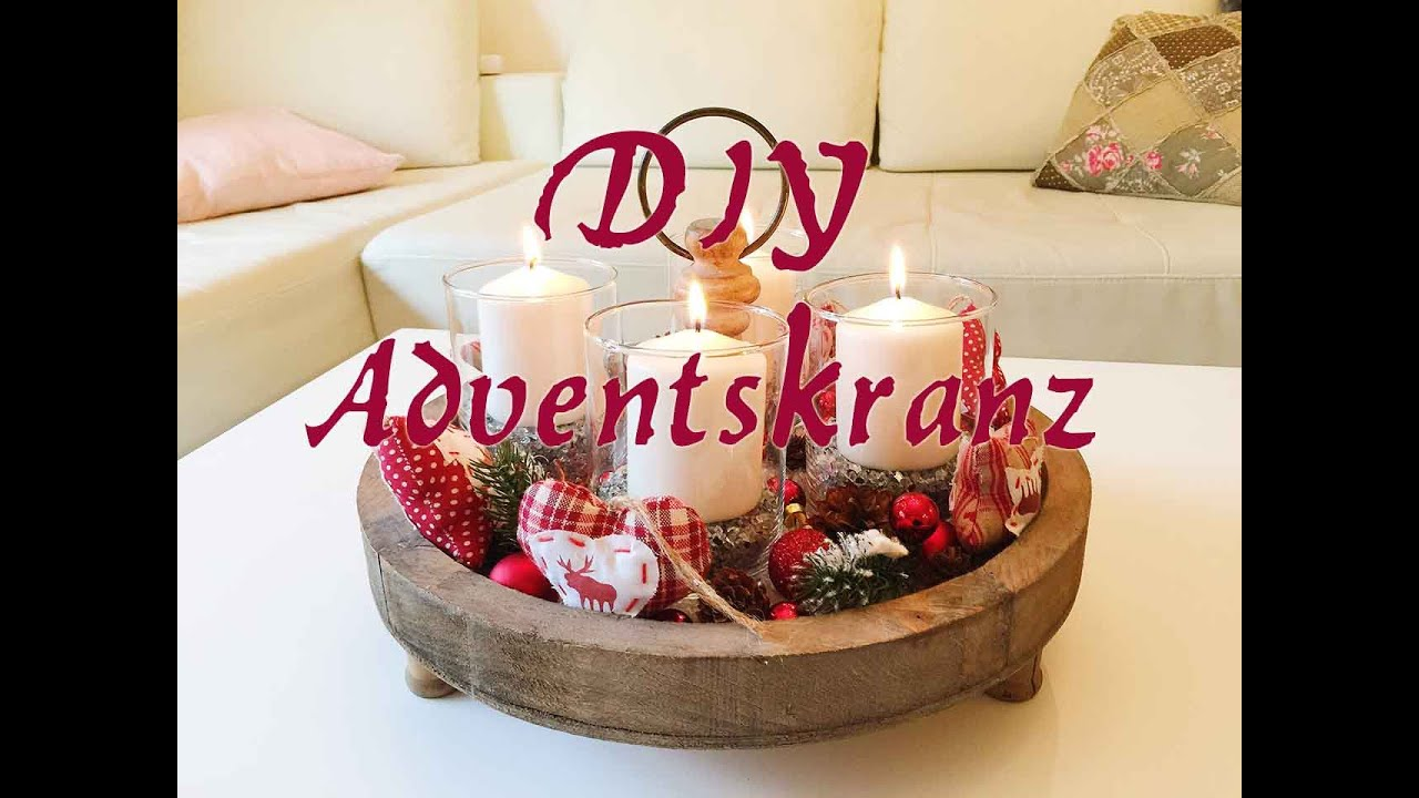 diy adventskranz selber machen weichnachtsdeko dekoration youtube. Black Bedroom Furniture Sets. Home Design Ideas