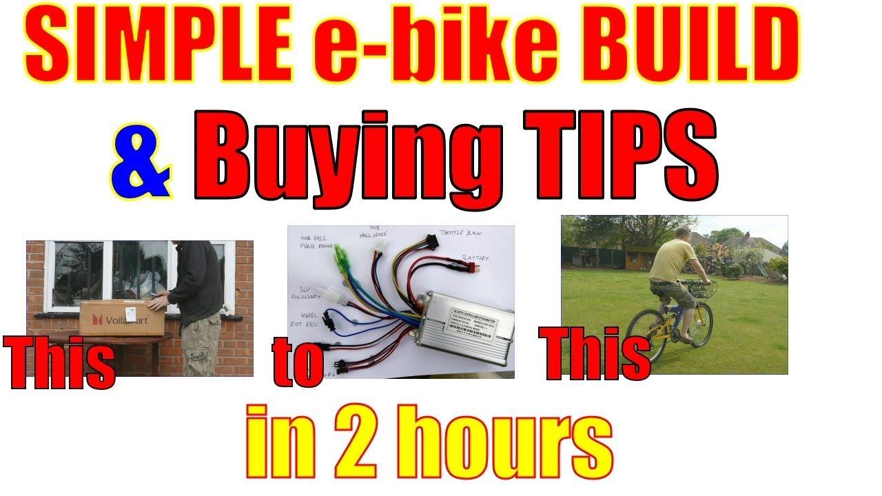 626d17f547a Simple 36V 250W front wheel e-bike build and buying tips - YouTube