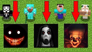 Minecraft Battle: NOOB vs PRO vs HACKER vs GOD: SCARY PITS CHALLENGE / Animation
