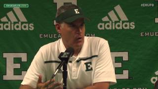 EMU Football Postgame Press Conference - Ball State (Sept 19, 2015)