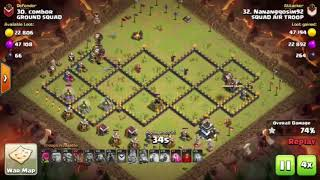 TOWN HALL 9 (TH 9) | AIR TROOPS VS GROUND TROOPS | WAR EVENT | COC