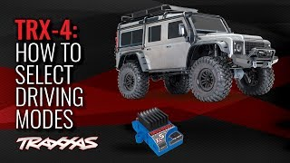 How to Select Driving Modes | Traxxas TRX-4