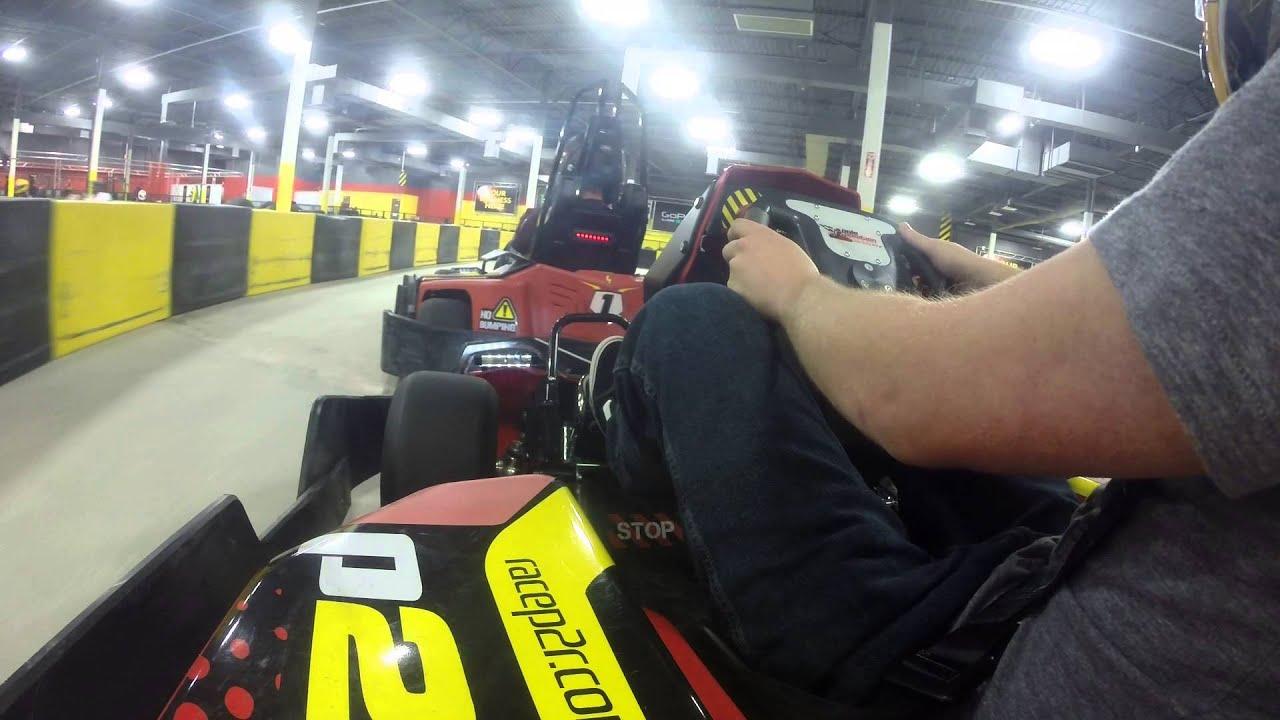 Kart racing crash