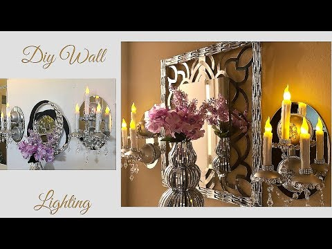 Diy Wall Mirror Candelabra| Simple and Inexpensive Home Decorating Idea!