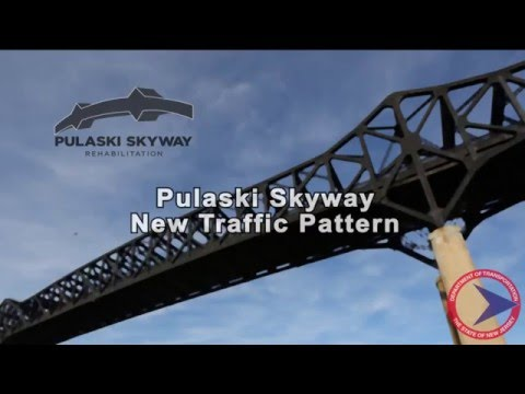 Pulaski Skyway New Traffic Pattern