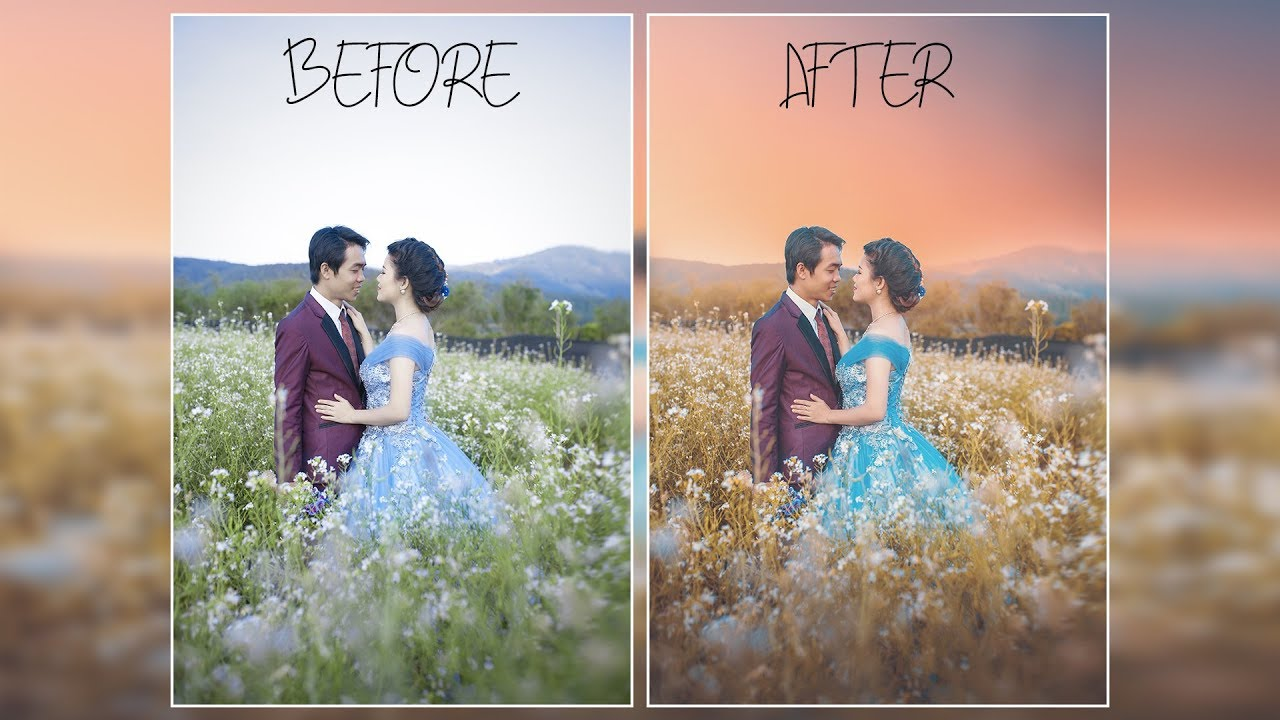 Photo Tutorial Outdoor Editing Wedding Photography