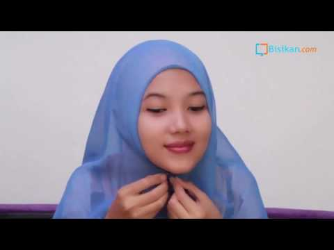 Hijab Tutorial Paris Segiempat Simple #6