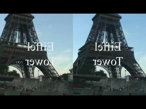 Paris 3D side by side format for Google Cardboard