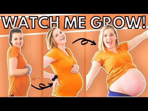 WEEK BY WEEK PREGNANCY BELLY PROGRESSION | Every Week of My Pregnant Belly!