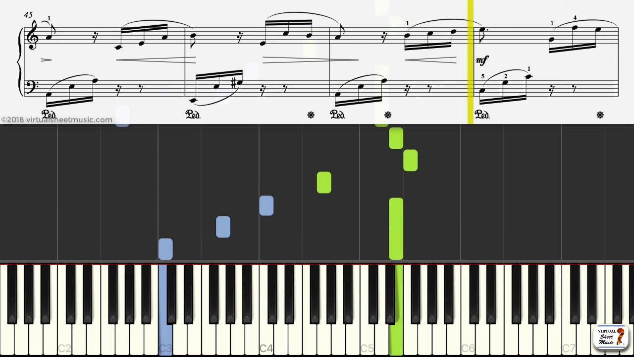 Fur Elise Sheet Music By Beethoven