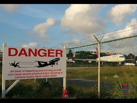 St Maarten SXM Maho Beach Jet Landing Video Review RenesPoints travel blog