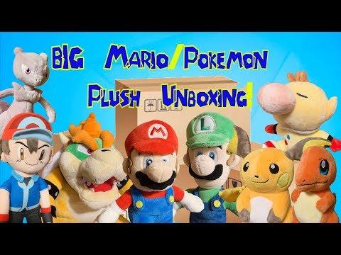 REALLY BIG MARIO/POKEMON PLUSH UNBOXING!