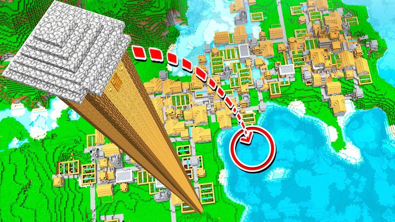 WORLD'S TALLEST MINECRAFT HOUSE! (500+ BLOCKS!)