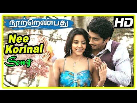 180 Movie Scenes  Nee Korinal Song  Siddharth and Priya get married  Siddharth surprises Priya