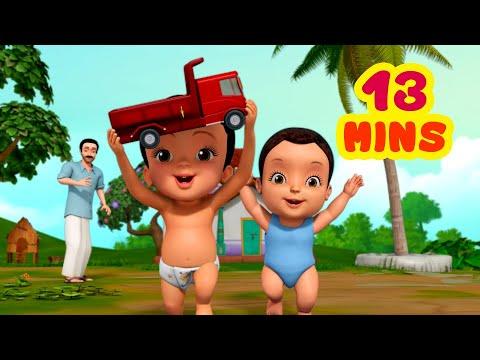 ಗಾಡಿ ಒಳ್ಳೆಯ ಗಾಡಿಗಳು - Playing With Vehicles | Kannada Rhymes For Children  | Infobells
