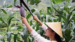 凉拌芭蕉花,中国饮食文化真是博大精深,芭蕉花还能这样吃【滇西小哥】 thumbnail