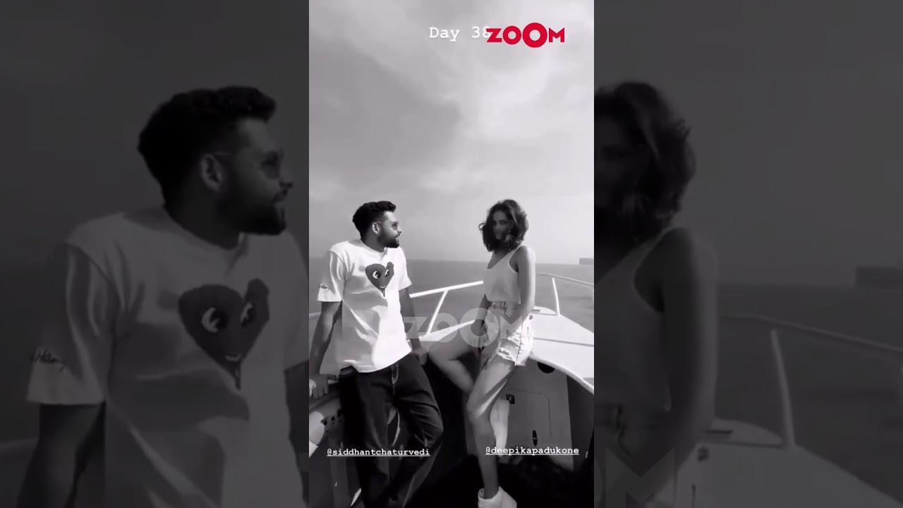 Deepika Padukone & Siddhant Chaturvedi enjoy a boat ride   #Shorts
