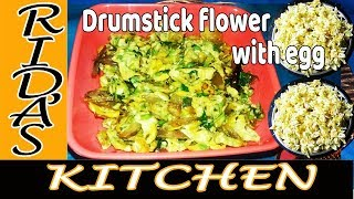 How to prepare  drumstic flower with egg