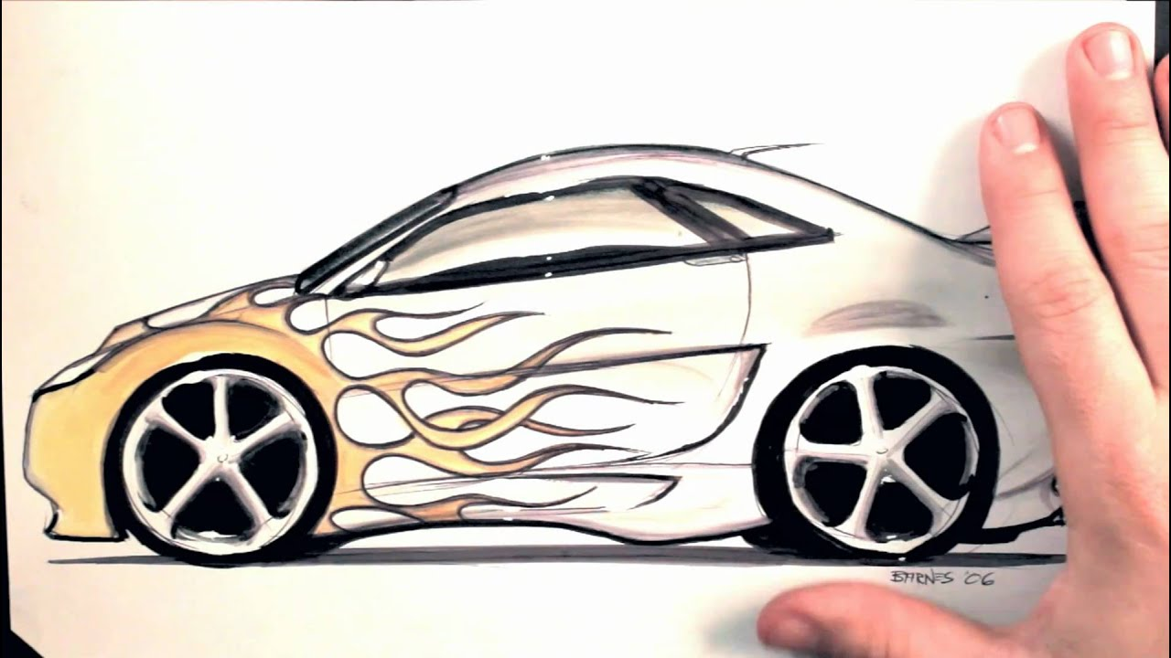 Howd You Draw That Tuner Car