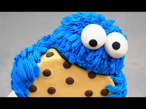 Cookie Monster Cake Buttercream Piping How To By