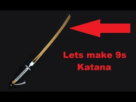 Lets craft 9s Katana hand made. Wood and PVC pipe