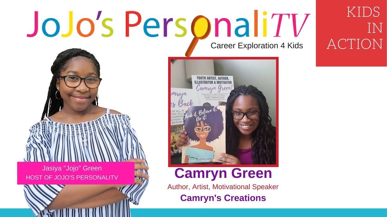 KIDS IN ACTION Guest Camryn Green of Camyrn's Creations