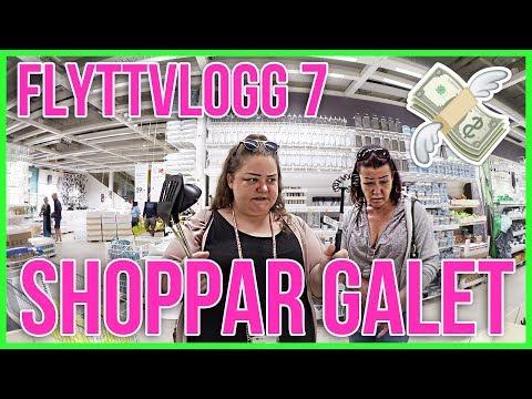 SHOPPAR GALET PÅ IKEA TILL LÄGENHETEN | FLYTTVLOGG 7