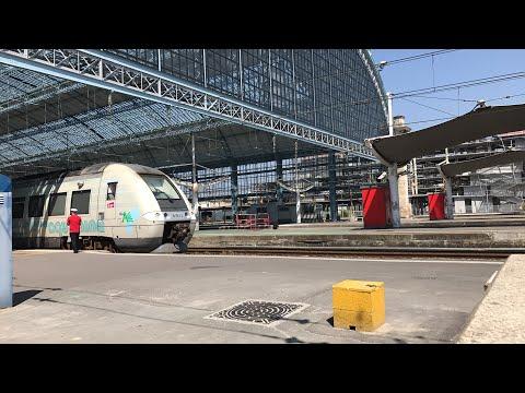 Rail Live. A very hot station. Bordeaux St Jean sous la canicule 37° !!