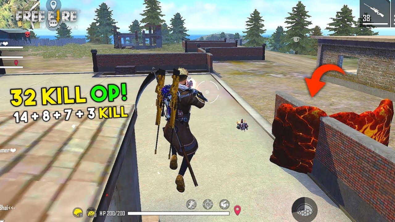2 AWM Total 32 Kill Ajjubhai Squad Gameplay with Amitbhai, Romeo and Jontybhai - Garena Free Fire