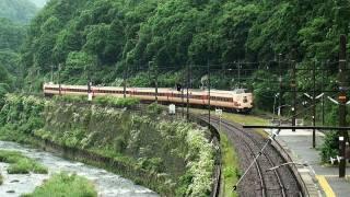 JR381系電車 国鉄塗色車 廃車回送 (13-Jun-2011)